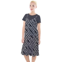 Linear Black And White Ethnic Print Camis Fishtail Dress by dflcprintsclothing