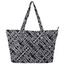 Linear Black And White Ethnic Print Full Print Shoulder Bag View1