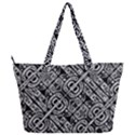 Linear Black And White Ethnic Print Full Print Shoulder Bag View2