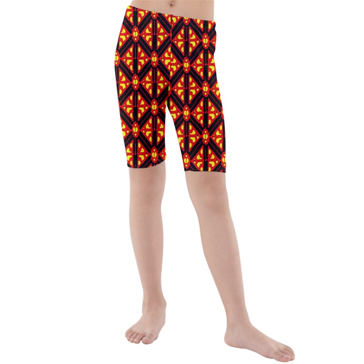 Rby-189 Kids  Mid Length Swim Shorts
