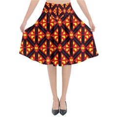Rby-189 Flared Midi Skirt