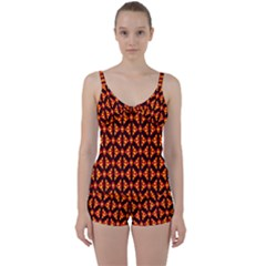 Rby-189 Tie Front Two Piece Tankini