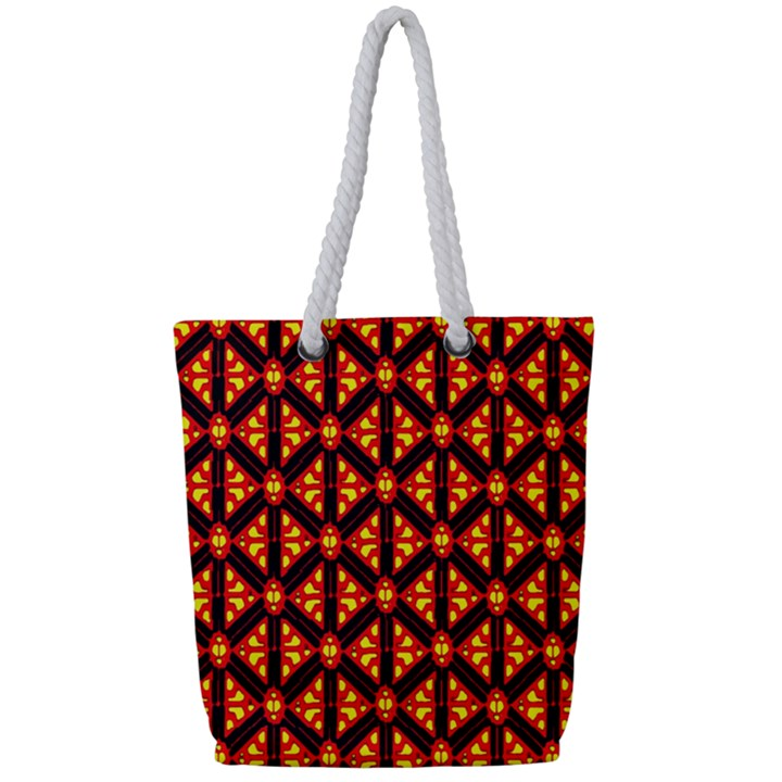 Rby-189 Full Print Rope Handle Tote (Small)