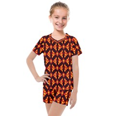 Rby-189 Kids  Mesh Tee and Shorts Set