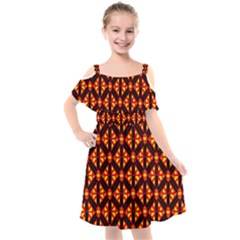 Rby-189 Kids  Cut Out Shoulders Chiffon Dress