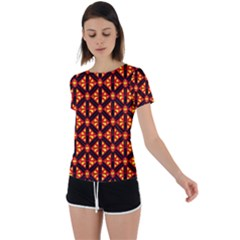 Rby-189 Back Circle Cutout Sports Tee