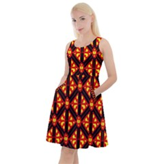 Rby-189 Knee Length Skater Dress With Pockets