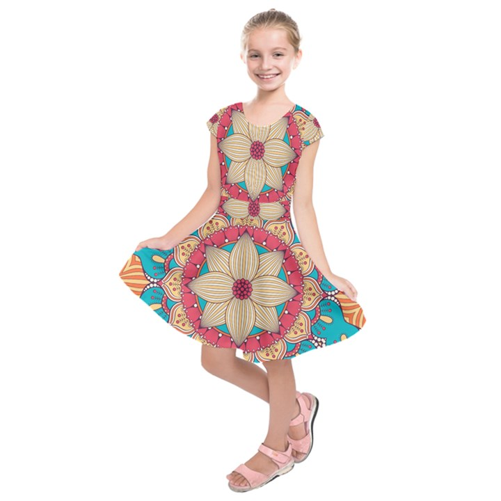Mandala Kids  Short Sleeve Dress