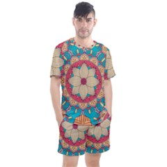 Mandala Men s Mesh Tee And Shorts Set