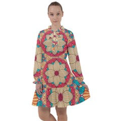 Mandala All Frills Chiffon Dress