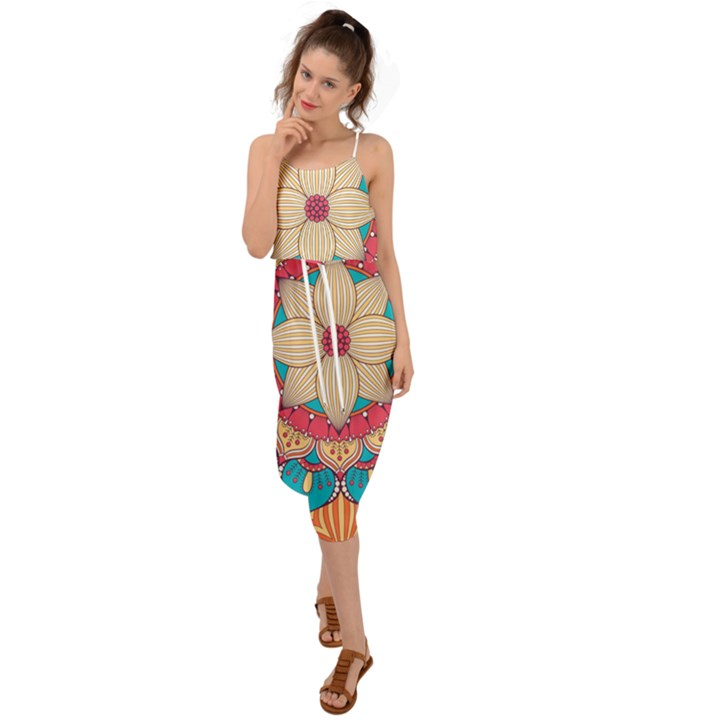 Mandala Waist Tie Cover Up Chiffon Dress