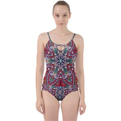 Mandala Cut Out Top Tankini Set