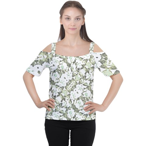 Modern Abstract Intricate Print Pattern Cutout Shoulder Tee by dflcprintsclothing