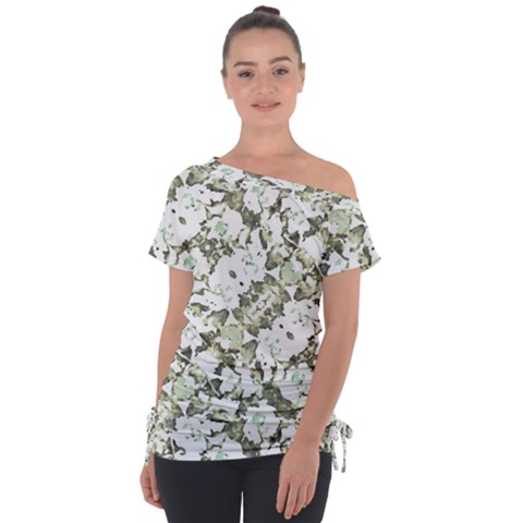 Modern Abstract Intricate Print Pattern Tie-up Tee by dflcprintsclothing
