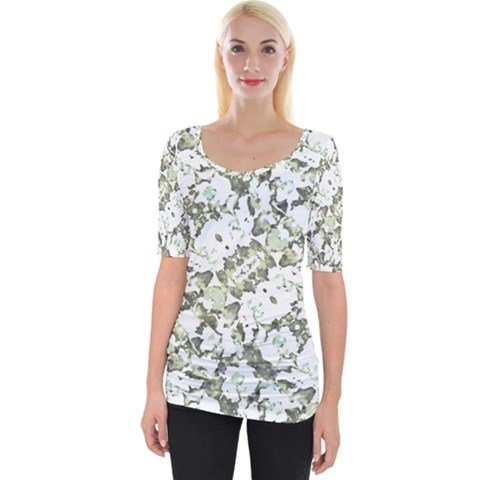 Modern Abstract Intricate Print Pattern Wide Neckline Tee by dflcprintsclothing