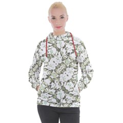 Modern Abstract Intricate Print Pattern Women s Hooded Pullover by dflcprintsclothing