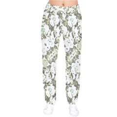 Modern Abstract Intricate Print Pattern Women Velvet Drawstring Pants by dflcprintsclothing