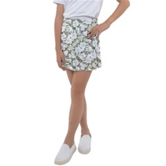 Modern Abstract Intricate Print Pattern Kids  Tennis Skirt by dflcprintsclothing