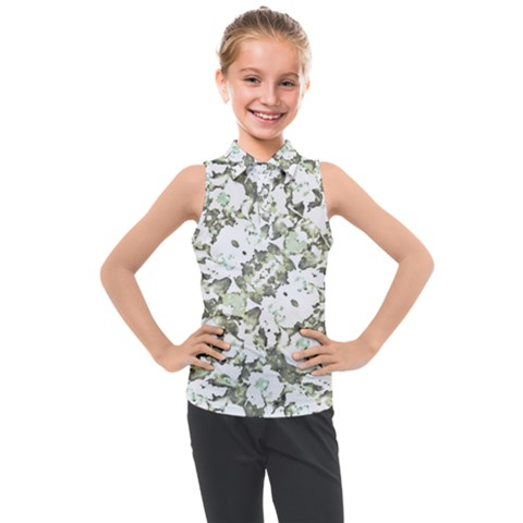 Modern Abstract Intricate Print Pattern Kids  Sleeveless Polo Tee by dflcprintsclothing