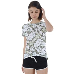 Modern Abstract Intricate Print Pattern Short Sleeve Foldover Tee by dflcprintsclothing