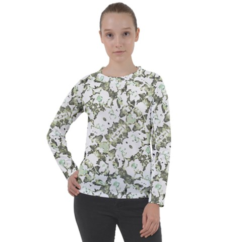 Modern Abstract Intricate Print Pattern Women s Long Sleeve Raglan Tee by dflcprintsclothing