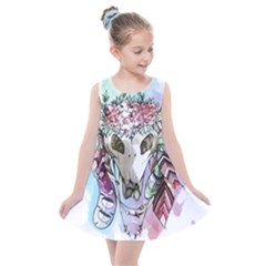 Animal Skull Kids  Summer Dress