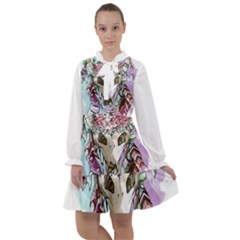 Animal Skull All Frills Chiffon Dress