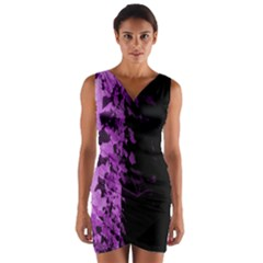 Purple Ivy Gothic Wrap Front Bodycon Dress by treegold