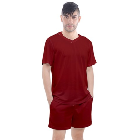 Sacred Red Men s Mesh Tee And Shorts Set by JanetAudreyWilsondesigns