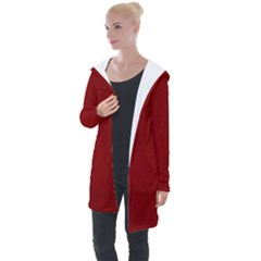 Sacred Red Longline Hooded Cardigan