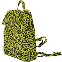 Leopard Spots Pattern, Yellow And Black Animal Fur Print, Wild Cat Theme Buckle Everyday Backpack by Casemiro