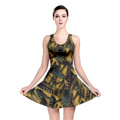 Feathers Reversible Skater Dress by treegold