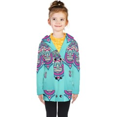 Blue Mandala Kids  Double Breasted Button Coat