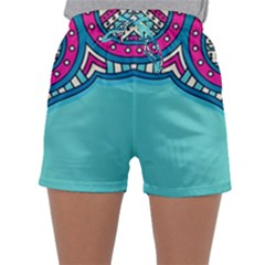 Blue Mandala Sleepwear Shorts