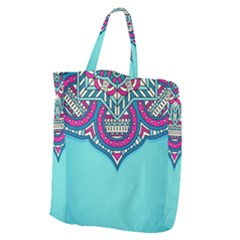 Blue Mandala Giant Grocery Tote