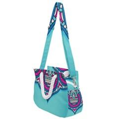 Blue Mandala Rope Handles Shoulder Strap Bag