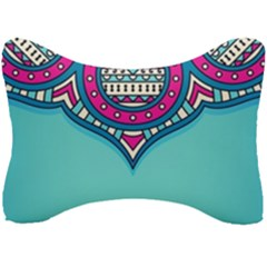 Blue Mandala Seat Head Rest Cushion