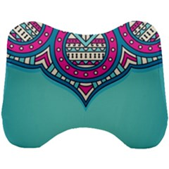 Blue Mandala Head Support Cushion