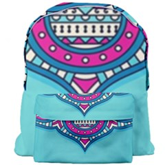 Blue Mandala Giant Full Print Backpack