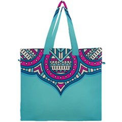 Blue Mandala Canvas Travel Bag