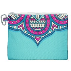 Blue Mandala Canvas Cosmetic Bag (xxl)