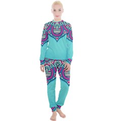 Blue Mandala Women s Lounge Set