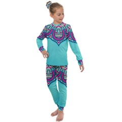 Blue Mandala Kids  Long Sleeve Set