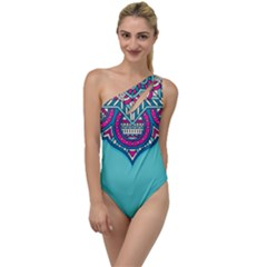 Blue Mandala To One Side Swimsuit