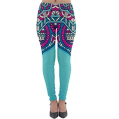 Blue Mandala Lightweight Velour Leggings