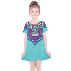 Blue Mandala Kids  Simple Cotton Dress