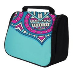 Blue Mandala Full Print Travel Pouch (small)