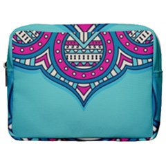 Blue Mandala Make Up Pouch (large)