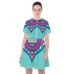 Blue Mandala Sailor Dress