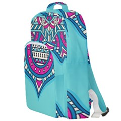 Blue Mandala Double Compartment Backpack